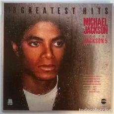 Disques de vinyle: MICHAEL JACKSON. 18 GREATEST HITS PLUS THE JACKSON 5. MOTOWN-TELESTAR, UK 1979 LP. Lote 189221770