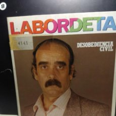 Dischi in vinile: SG JOSE ANTONIO LABORDETA : DESOBEDIENCIA CIVIL + A VECES ME PREGUNTO. Lote 189222746