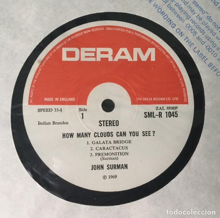 Discos de vinilo: JOHN SURMAN - HOW MANY CLOUDS CAN YOU SEE?, UK 1970 DERAM - Foto 3 - 189225431