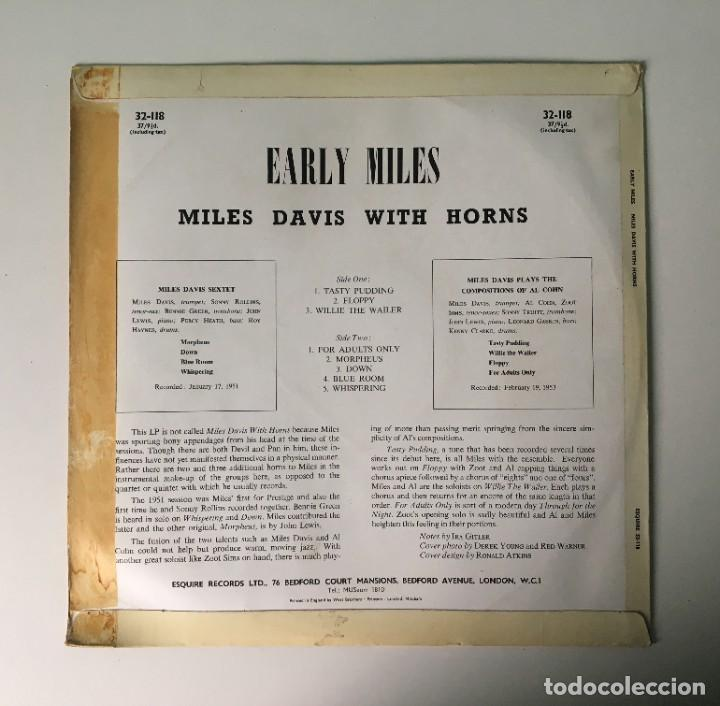 Discos de vinilo: MILES DAVIS - EARLY MILES, UK 1961 ESQUIRE - Foto 2 - 189225626