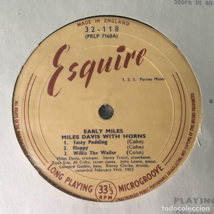 Discos de vinilo: MILES DAVIS - EARLY MILES, UK 1961 ESQUIRE - Foto 3 - 189225626