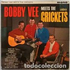 Discos de vinilo: BOBBY VEE MEETS THE CRICKETS. LIBERTY, UK 1962 (LP MONO ORIGINAL) LBY 1086. Lote 189231963