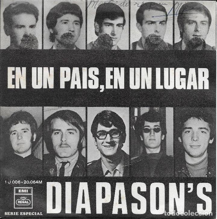 LOS DIAPASON'S EN UN PAIS EN UN LUGAR EMI REGAL 1969 (Música - Discos - Singles Vinilo - Grupos Españoles 50 y 60)