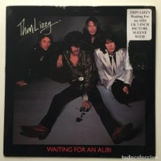 Discos de vinilo: THIN LIZZY – WAITING FOR AN ALIBI - WITH LOVE 1979-UK SINGLE LIZZY 003. Lote 187563646
