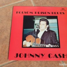 Discos de vinilo: JOHNNY CASH LP FOLSOM PRISON BLUES NGLP - 4002 1983 US. Lote 189263943