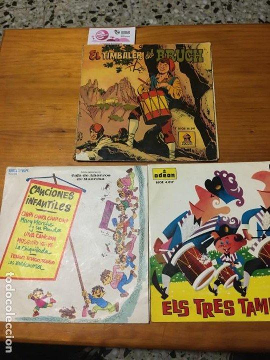 EL TIMBALER DEL BRUCH, ELS TRES TAMBORS Y CANCIONES INFANTILES (Música - Discos - Singles Vinilo - Música Infantil)