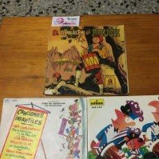 Discos de vinilo: EL TIMBALER DEL BRUCH, ELS TRES TAMBORS Y CANCIONES INFANTILES. Lote 189272926