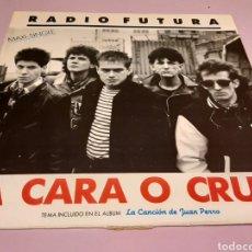 Discos de vinilo: RADIO FUTURA - MAXI SINGLE A CARA O CRUZ/ 37 GRADOS. Lote 189277815
