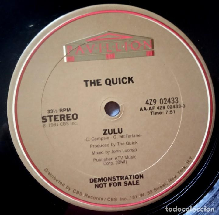 THE QUICK - ZULU - MAXI 12 33 USA PROMOCIONAL 1981 - PAVILLION (Música - Discos de Vinilo - Maxi Singles - Jazz, Jazz-Rock, Blues y R&B)