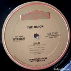Discos de vinilo: THE QUICK - ZULU - MAXI 12 33 USA PROMOCIONAL 1981 - PAVILLION. Lote 189281186
