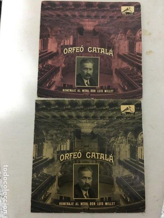 Discos de vinilo: disco single orfeo catala homenaje lluis millet nº 2 nº 6 - lemigrant -la mort de lescola -la bal - Foto 2 - 189282578