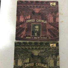 Discos de vinilo: ORFEO CATALA HOMENAJE LLUIS MILLET 2 DISCOS. Lote 189282578