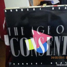 Discos de vinilo: BRONSKI BEAT ?– THE AGE OF CONSENT. Lote 189288930