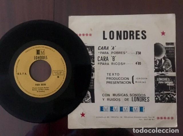 Discos de vinilo: JOAQUÍN MERINO - LONDRES PARA TURISTAS POBRES Y RICOS - 1971 - Foto 2 - 189291563