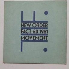 Disques de vinyle: NEW ORDER MOVEMENT FACT. 50 1981. LP. TDKDA51. Lote 189304191