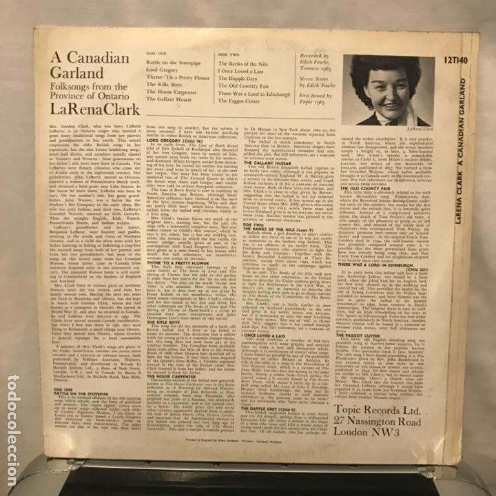 Discos de vinilo: LaRena Clark A Canadian Garland - Foto 2 - 189307751