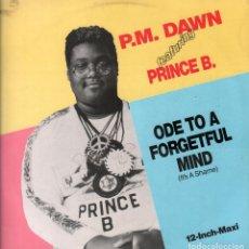 Discos de vinilo: P.M. DAWN FEATURING PRINCE B. / ODE TO A FORGETFUL MIND / LP MAXISINGLE DE 1989 RF-7936 . Lote 189310028
