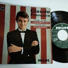 Discos de vinilo: EP-CLAUDE FRANCOIS-C´EST MOI...-FRANCE-. Lote 189319996
