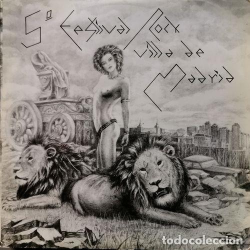 TRITON DERRIBOS ARIAS LA UVI - 5 FESTIVAL ROCK VILLA DE MADRID - LP DE VINILO DE 1982 CON ENCARTE (Música - Discos - LP Vinilo - Grupos Españoles de los 70 y 80)