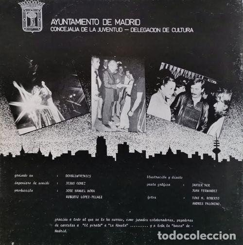 Discos de vinilo: TRITON DERRIBOS ARIAS LA UVI - 5 FESTIVAL ROCK VILLA DE MADRID - LP DE VINILO DE 1982 CON ENCARTE - Foto 2 - 189334511