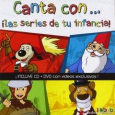 Discos de vinilo: CANTA CON LAS SERIES DE TU INFANCIA (CD + DVD) DAVID EL GNOMO, WILLY FOG, D'ARTACÁN, RUY PEQUEÑO CID. Lote 255496190