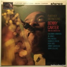 Discos de vinilo: BENNY CARTER AND HIS ORCHESTRA - FURTHER DEFINITIONS, UK 1962 HMV. Lote 189336230