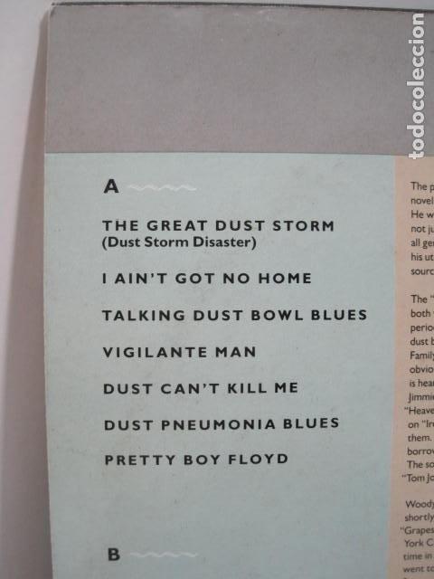 Discos de vinilo: WOODY GUTHRIE.DUST BOWL BALLADS. 14 CANCIONES. VIGILANTE MAN, PRETTY BOY FLOYD. 1988.ROUNDER RECORDS - Foto 3 - 189359688