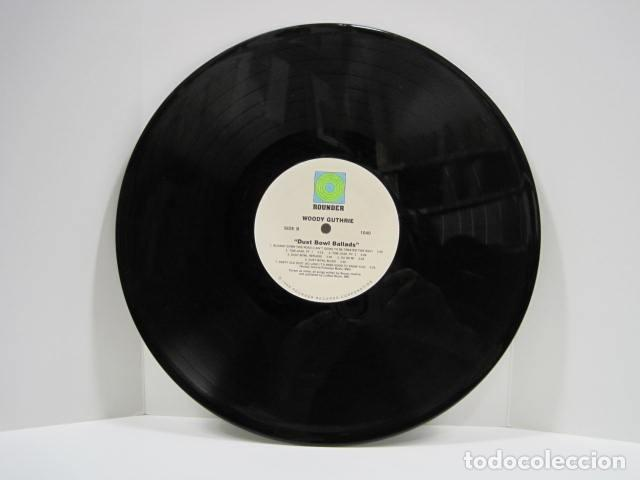 Discos de vinilo: WOODY GUTHRIE.DUST BOWL BALLADS. 14 CANCIONES. VIGILANTE MAN, PRETTY BOY FLOYD. 1988.ROUNDER RECORDS - Foto 7 - 189359688