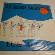 Discos de vinilo: SINGLE LUIS AGUILÉ. LA BANDA BORRACHA. EXTRAÑOS EN LA NOCHE. EMI 1966 SPAIN (PROBADO Y BIEN). Lote 189365876
