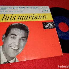 Disques de vinyle: LUIS MARIANO MAMAN LA PLUS BELLE DU MONDE/BAMBINO +2 EP 1957 LA VOIX DE SON MAITRE FRANCE FRANCIA. Lote 189373968