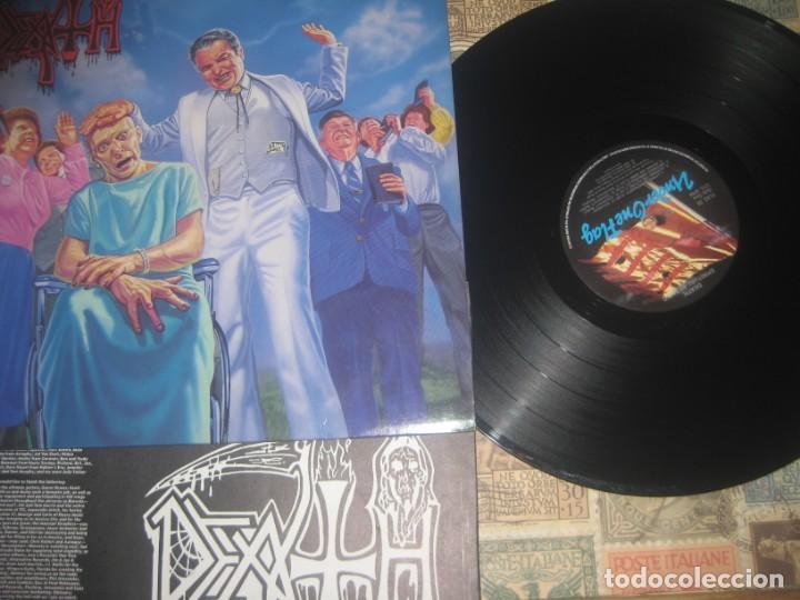 DEATH - SPIRITUAL HEALING+ENCARTE+FOTO NEW ALBUM (RELATY RECORDS-1990) OG ENGLAND LEA DESCRIPCION (Música - Discos - LP Vinilo - Heavy - Metal)