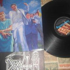 Discos de vinilo: DEATH - SPIRITUAL HEALING+ENCARTE+FOTO NEW ALBUM (RELATY RECORDS-1990) OG ENGLAND LEA DESCRIPCION. Lote 189375452