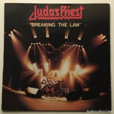 Discos de vinilo: JUDAS PRIEST ‎– BREAKING THE LAW - METAL GODS UK 1980 CBS. Lote 189380441