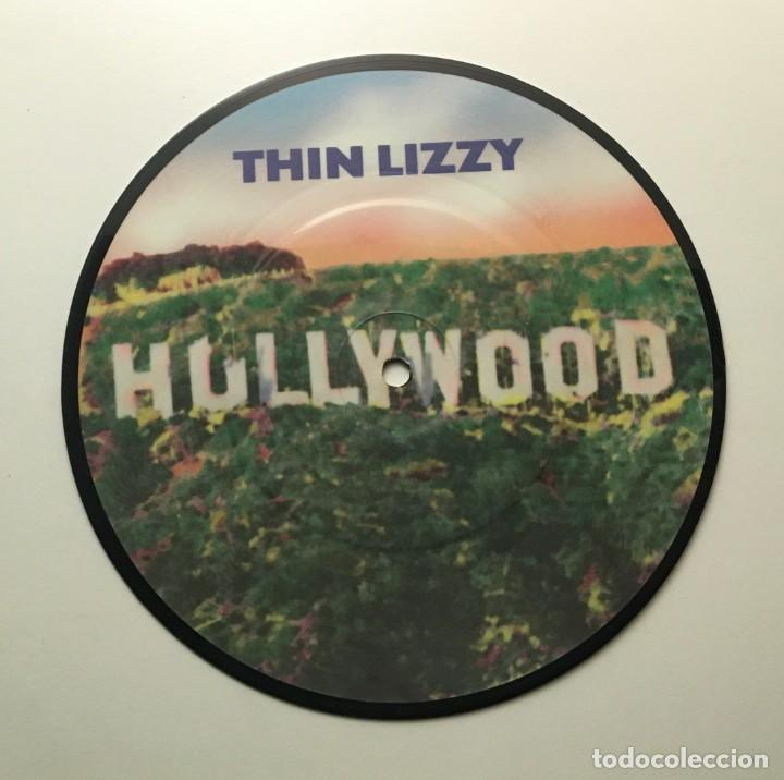 THIN LIZZY – HOLLYWOOD (DOWN ON YOUR LUCK) - THE PRESSURE WILL BLOW UK 1981 PHONOGRAM (Música - Discos de Vinilo - Maxi Singles - Heavy - Metal)