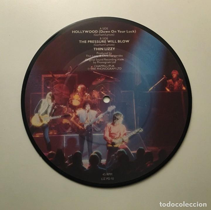 Discos de vinilo: Thin Lizzy ‎– Hollywood (Down On Your Luck) - The Pressure Will Blow UK 1981 PHONOGRAM - Foto 2 - 189382047