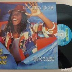 Discos de vinilo: LOUIS TOWERS Y EL GRUPO KERUBE -LA CHICA DE LOS OJOS CAFE -MAXI 1990 -BUEN ESTADO. Lote 189388253