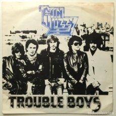 Discos de vinilo: THIN LIZZY – TROUBLE BOYS - MEMORY PAIN UK-1981 VERTIGO. Lote 187562012