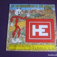 Discos de vinilo: HIDROELECTRICA ESPAÑOLA FLEXI DISCO LA CENICIENTA 1971 - DON KILOVATIO - PUBLICIDAD AÑOS 70. Lote 189399670