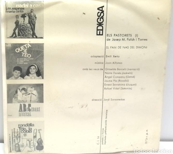 Discos de vinilo: ELS PASTORETS, J. M. FOLCH I TORRES (EDIGSA 1965) - Foto 2 - 189399842