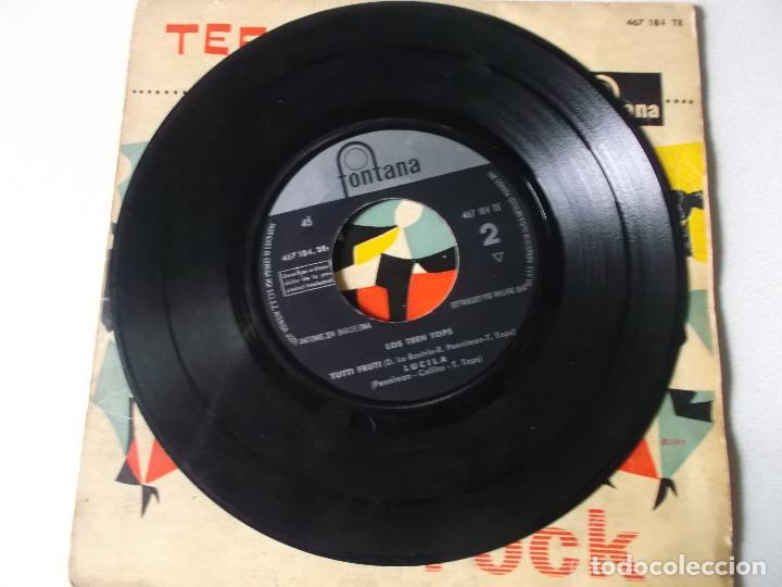 Discos de vinilo: LOS TEEN TOPS - REY CRIOLLO / MUCHACHO TRISTE Y SOLITARIO / TUTTI FRUTI / LUCILA (EP 1961) - Foto 3 - 189410826