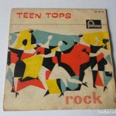 Discos de vinilo: LOS TEEN TOPS - REY CRIOLLO / MUCHACHO TRISTE Y SOLITARIO / TUTTI FRUTI / LUCILA (EP 1961). Lote 189410826