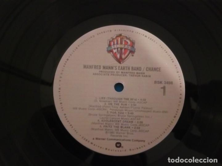 Discos de vinilo: Manfred Manns Earth Band...Chance.(Warner Bros. 12 Jan 1981) Usa - Foto 5 - 189411822