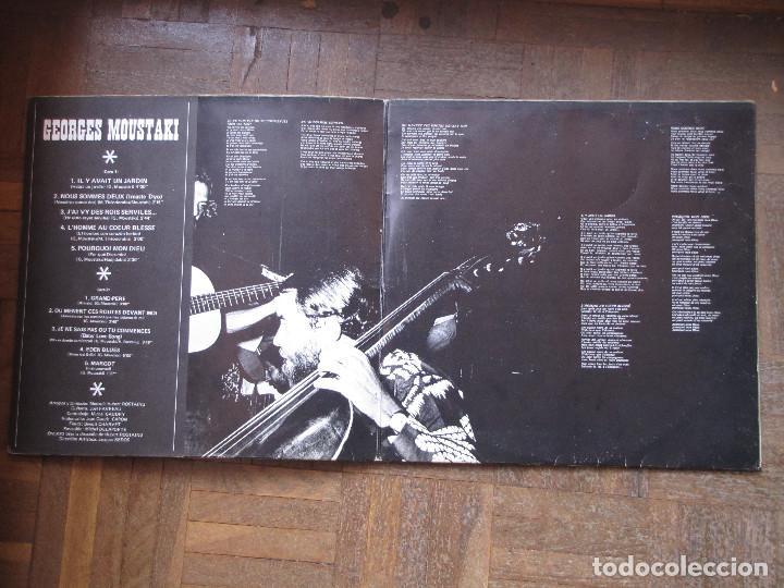 Discos de vinilo: Georges Moustaki. Polydor 23 93 0232. España, 1971. Gatefold. Funda VG++. Disco VG++. - Foto 3 - 189433643