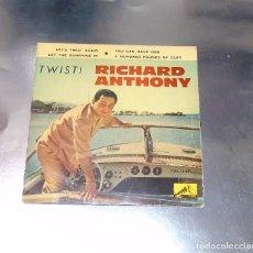Discos de vinilo: RICHARD ANTHONY --- LET´S TWIST AGAIN / YOU CAN HAVE HER +2 EDICION ESPAÑOLA 1961. Lote 189434986