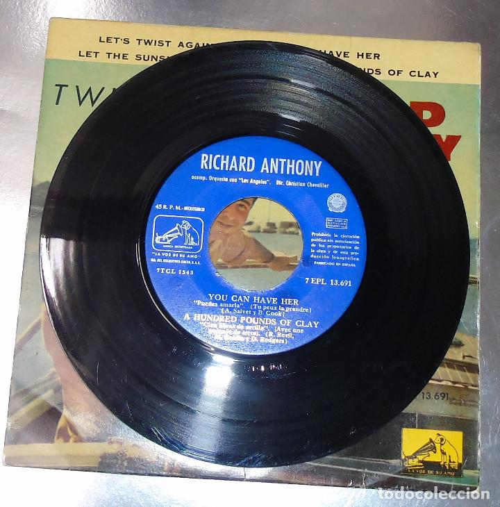 Discos de vinilo: RICHARD ANTHONY --- LET´S TWIST AGAIN / YOU CAN HAVE HER +2 EDICION ESPAÑOLA 1961 - Foto 5 - 189434986
