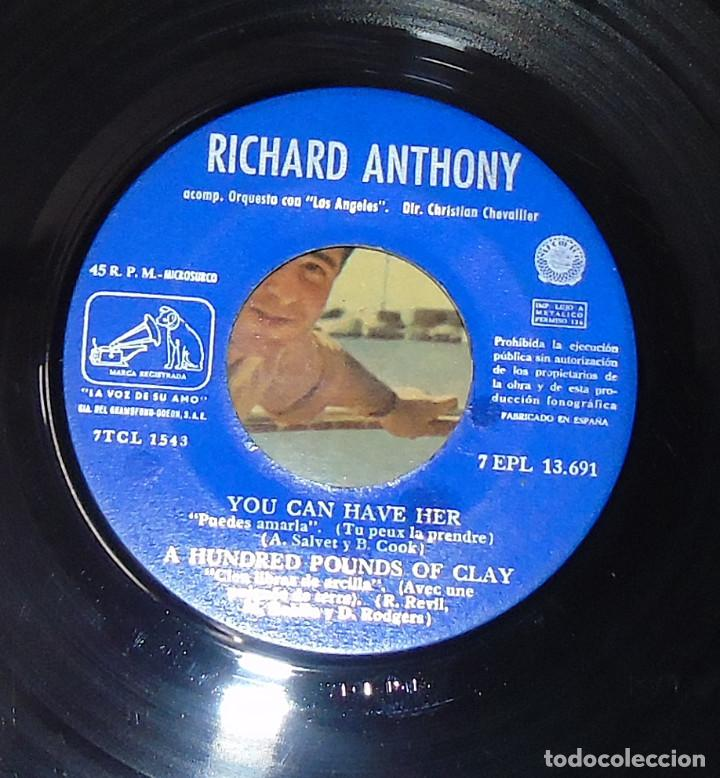 Discos de vinilo: RICHARD ANTHONY --- LET´S TWIST AGAIN / YOU CAN HAVE HER +2 EDICION ESPAÑOLA 1961 - Foto 6 - 189434986