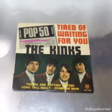 Discos de vinilo: THE KINKS ----TIRED OF WAITING FOR YOU - LONG TALL SALLY + 2 --AÑO 1965 ***COL***. Lote 182489490