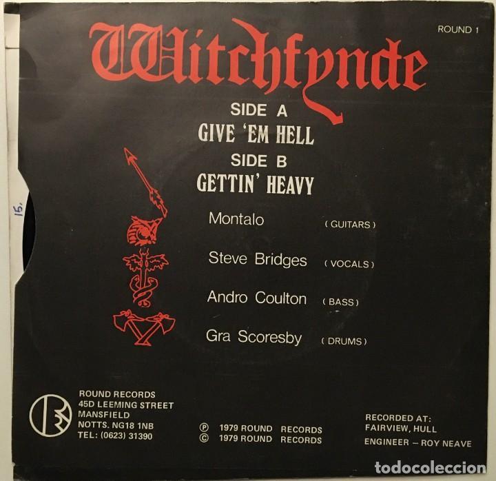 Discos de vinilo: Witchfynde ?– Give Em Hell - Gettin Heavy UK 1979 RONDELET Music & Records - Foto 2 - 189441475