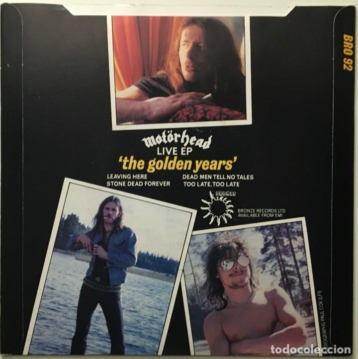 Discos de vinilo: Motörhead – The Golden Years (Live) EP UK 1980 BRONZE - Foto 2 - 189442935