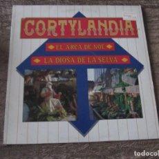 Discos de vinilo: LP VINILO CORTYLANDIA CORTILANDIA EL ARCA DE NOE LA DIOSA DE LA SELVA NAVIDAD. Lote 189460097